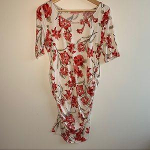Hello Miz Dress Cream/Pink Floral Print XL